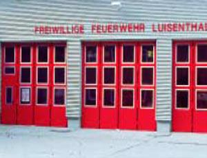 Складные промышленные автоматические ворота Teckentrup серии dw 50-GUP fire