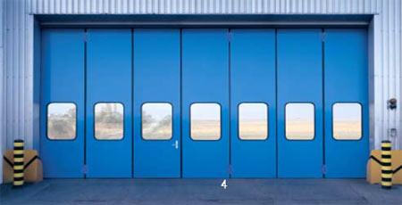 Складные промышленные автоматические ворота Teckentrup серии ew 50-GUP