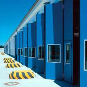 Складные промышленные автоматические ворота Teckentrup серии dw 50-GUP