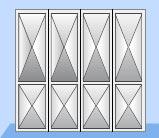 Складные промышленные автоматические ворота Teckentrup стальной лист в виде филенки
