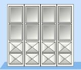 Складные промышленные автоматические ворота Teckentrup стальной лист в виде филенки в комбинации со стеклом
