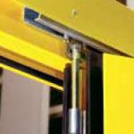 Складные промышленные автоматические ворота Teckentrup - верхняя направляющая в цвет ворот