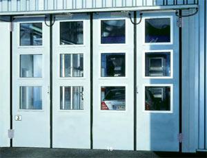 Складные промышленные автоматические ворота Teckentrup