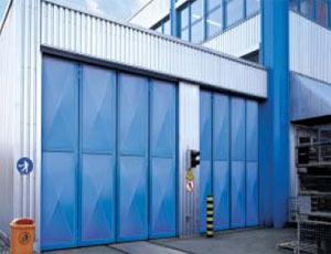 Складные промышленные автоматические ворота Teckentrup серии ew RP-GUP филенка