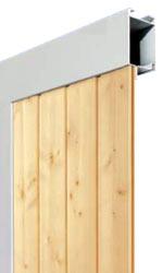Складные промышленные автоматические ворота Teckentrup серии ew RP-GUP деревянные панели 16 мм