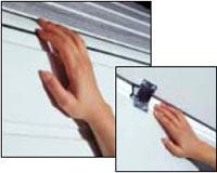 секционные гаражные ворота GSW 20 защита от защемления пальцев снаружи и изнутри (между панелями)