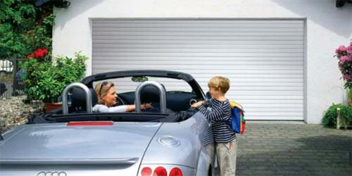 секционные гаражные ворота Slatted Doors из стали или алюминия
