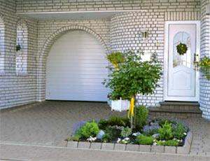 секционные гаражные ворота Slatted Doors из алюминия