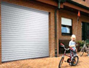 секционные гаражные ворота Slatted Doors из стали