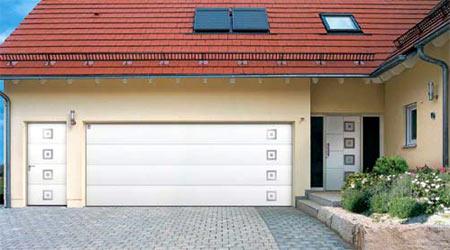 Секционные автоматические ворота гаражные GSW 40 Design