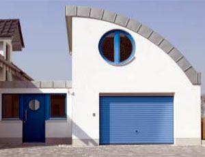 Подъемно-поворотные автоматические ворота гаражные, с покраской