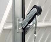 Подъемно-поворотные автоматические ворота гаражные: рычаг противовеса