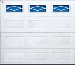 Секционные гаражные ворота Teckentrup GSW 20 остекление ромбовидное. Исполнение кассета