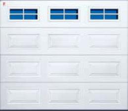 Секционные гаражные ворота Teckentrup GSW 20 прямоугольное остекление с поперечинами. Исполнение кассета