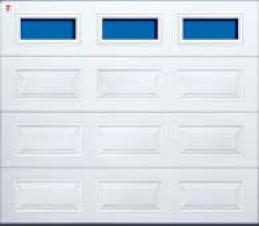 Секционные гаражные ворота Teckentrup GSW 20 прямоугольное остекление. Исполнение кассета
