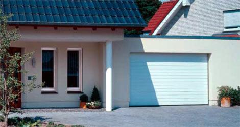 Секционные гаражные ворота Teckentrup GSW 40 горизонтальный малый гофр