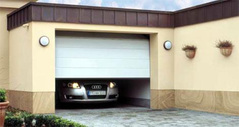 Секционные гаражные ворота Teckentrup GSW 40 горизонтальный средний гофр