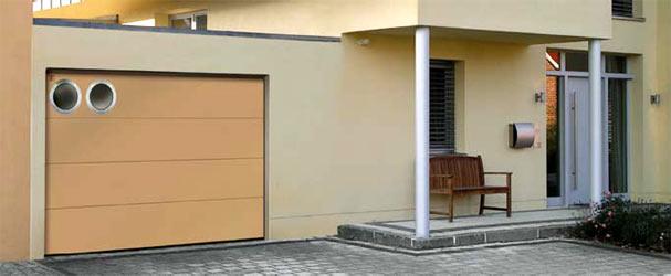 Секционные гаражные ворота Teckentrup GSW 40 горизонтальный большой гофр
