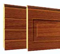 """Секционные гаражные ворота Teckentrup: отделка панелей под дерево """"Темный дуб"""""""