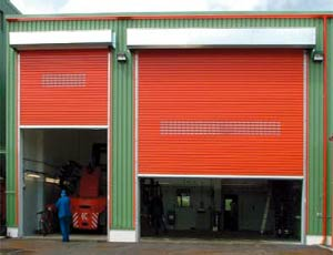 Промышленные автоматические рулонные ворота Teckentrup ThermoTeck покараска по каталогу RAL