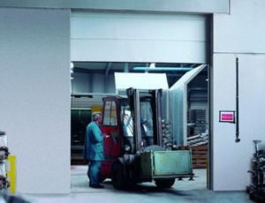 Противопожарные ворота Teckentrup: секционные ворота. Класс огнестойкости T90