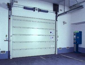 Противопожарные ворота Teckentrup: секционные ворота. Вид изнутри