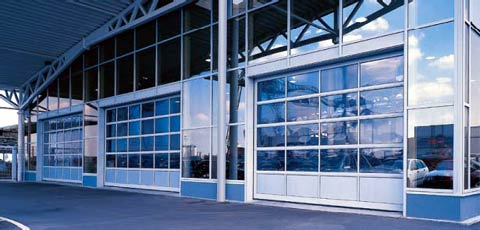 Секционные промышленные автоматические ворота Teckentrup серии SL