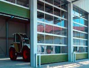 Секционные промышленные автоматические ворота Teckentrup серии SLW